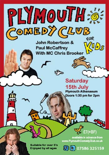 Upcoming Kids Shows Plymouth Comedy Club